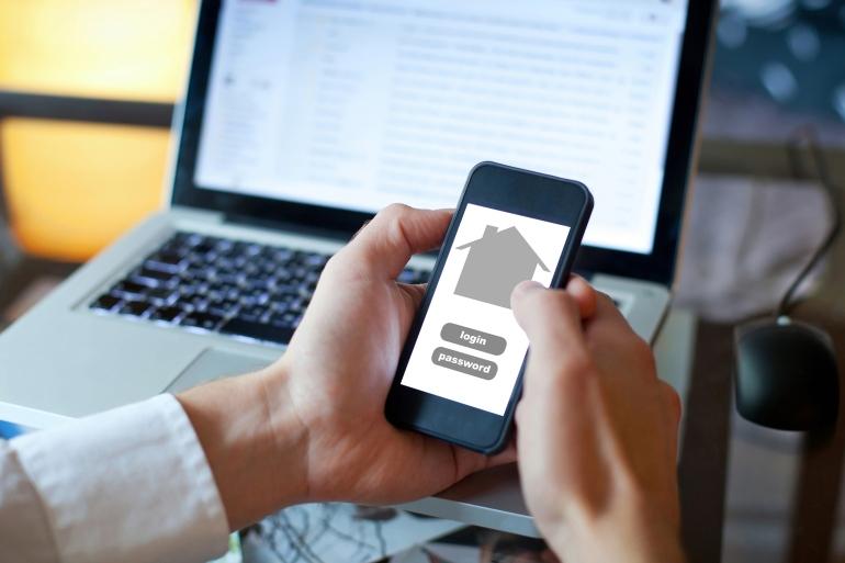 smart home application on smartphone