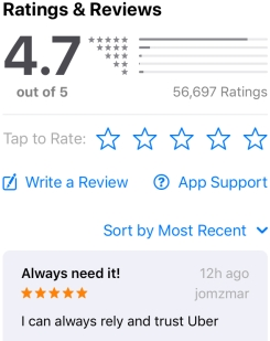 reviews for app